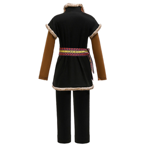 Image 3 - Snow Queen Kristoff Cosplay Costumes Kids Carnival Party Three piece Outfit Fancy Dress Up Children Clothing Movie Boys Sets