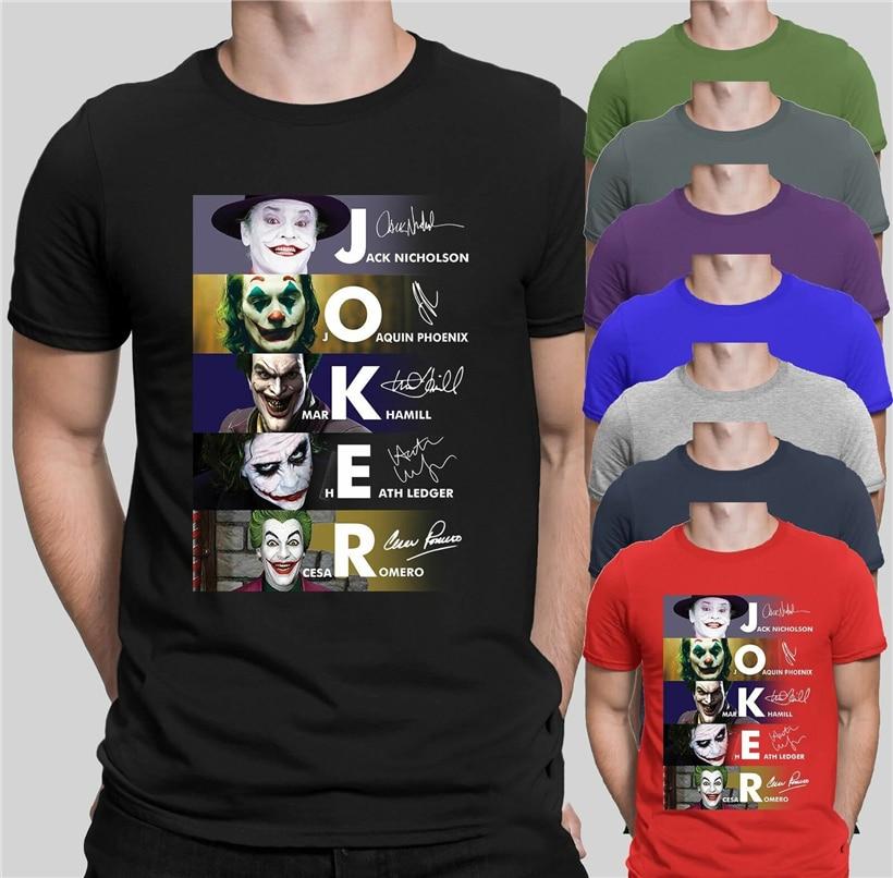 Joker Joaquin Phoenix 2019 T Shirt Movies Inspired Jack Mark Heath Jokers Tee Graphic Tee Shirt