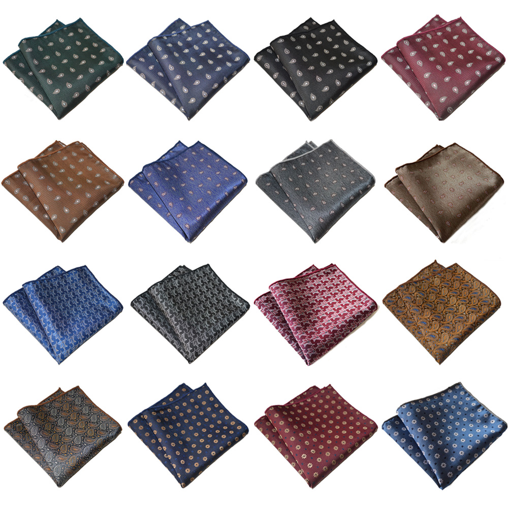 Men's Handkerchief Paisley Printed Suit Pocket Square Accessories Wedding Party YXTIE0304