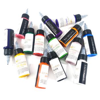 Profesjonalne 30 ml butelka T-hurtownia odzieży on-line moda t-o-o atramentu Professional t-hurtownia odzieży on-line moda T-o-o pigmentu t-hurtownia odzieży on-line moda t-o- o tatuaże do ciała narzędzia do makijażu tanie i dobre opinie T-a-t-t-o-o Pigment