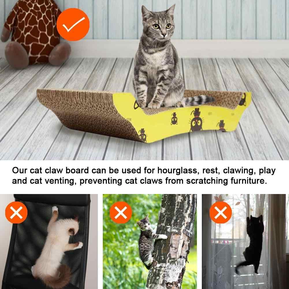 고양이 스크래치 보드 고양이 장난감 소파 침대 골판지 애완 동물 고양이 물린 잠자는 장난감 scratchers 고양이 긁적 패드 긁는 게시물
