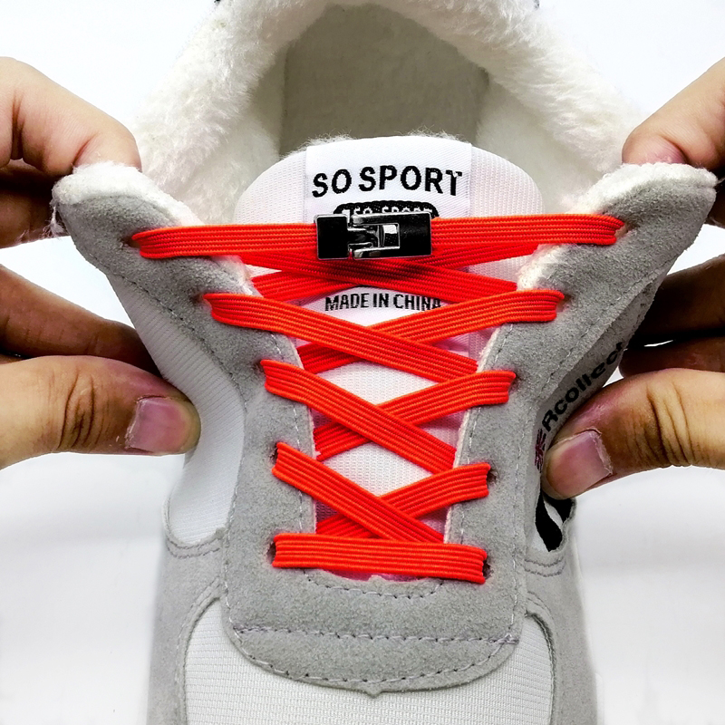 SOBU New Quick No Tie Shoelaces Elastic Cross Buckle Shoe Laces