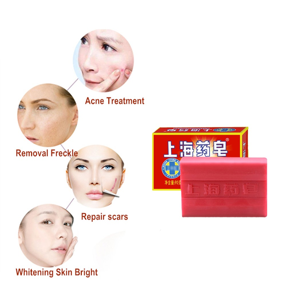 New Beauty And Whitening Products. Acne Soap With Acaricide Against Fungi Can Remove Black And Red Spots On The Skin.