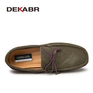 Image 2 - DEKABR Genuine Leather Men Shoes Luxury Brand Casual Slip On Formal Loafers Men Moccasins Male Driving Shoes Warm Loafers