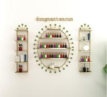 Nail shop, iron art nail armour, nail polish, shelf, nail polish shelf display rack.