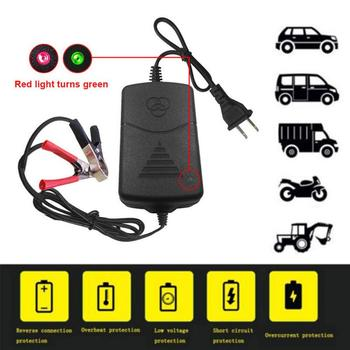 12V US Plug/EU Plug Smart Compact Battery Sealed Lead Acid Rechargeable Automatic Battery Charger for Car Truck Motorcycle image