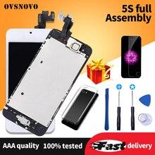 Jakość aaa komplet LCD dla iPhone 5 5c 5S SE zamiana digitizera ekranu dotykowego dla iPhone 6 kompletny wyświetlacz