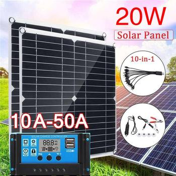 Solar Cells 20V Home Improvement Durable Solar Charging Equipment Solar Panel 350*350mm 20W Monocrystalline Silicon DIY Mini