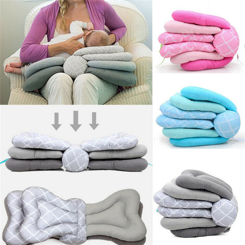 2019 Hot Adjustable Nursing Maternity Breastfeeding Baby Soft Support Cushion Infant Baby Breast Feeding Layered Pillow