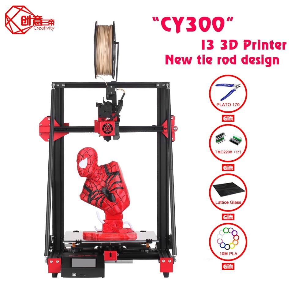 Creativity 3d printer CY300 I3 Mega Upgrade Large Size Metal Frame High Precision Touch Screen 3D Printer Kit Impressora 3D Printers  - AliExpress
