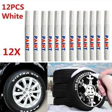 12pcs Multi-functional Waterproof Car Tire Paint Marker Pen Sign In Office Graffiti Stationery Water Based Premium Fill