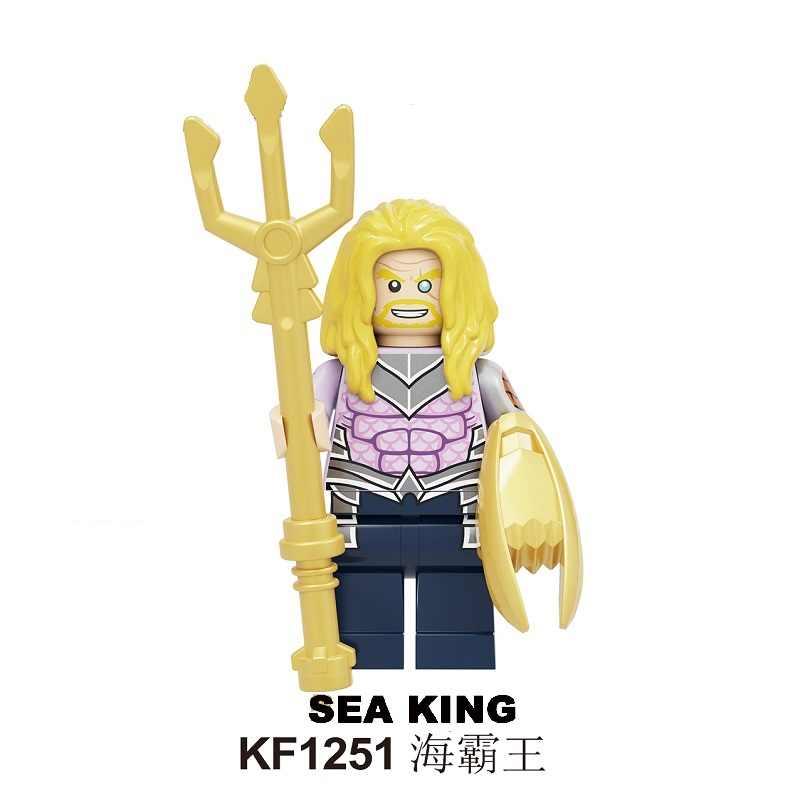 Enkele Verkoop Crime Syndicate Gebouw Cijfers Ultra Man Alexander Luthor Zee King Power Ring Grid Figuur Speelgoed Voor Kinderen KF6104