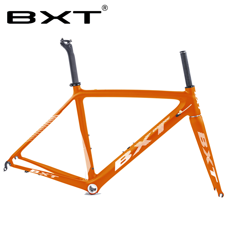 Factory Price Frame Carbon Road Bike Matte Carbon Racing Bicycle Frameset Ultralight 5 Color 50/53/55 Cm Bicicleta Carbon Frame