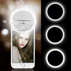 Universal Selfie Lamp Mobile Phone Lens Portable Flash Ring 36 LEDS Luminous Ring Clip Light For iPhone 11 8 7 6 Plus Samsung
