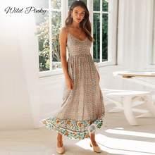 Женское длинное платье макси на бретельках Пляжные Платья с