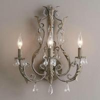 Vintage/antique/retro white/grey crystal wall lamp french wall lights home interior decoration bedside bedroom wall sconce light
