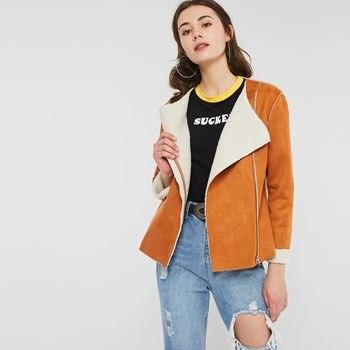 Fashion Suede Jackets Women Autumn Winter Hot Sale Thicken Faux Leather Coat Zipper Streetwear Girl Top Warm Casual Outerwear