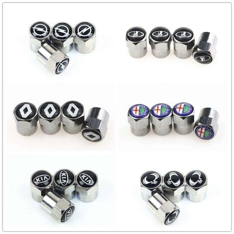 4 pçs nova roda de metal tampões de válvula de pneu para bmw mercedes benz toyota ford audi vw nissan opel skoda opel volvo saab