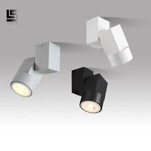 led downlight adjustable angle 5w warm white/natural white Spot light chrome/white/black indoor Foyer Surface Mounted Down light