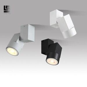 Ângulo ajustável downlight levou 5w branco quente natural/branco Spot light chrome/branco/preto interior Foyer montagem Em superfície Para Baixo a luz|Luzes embutidas de LED|   -