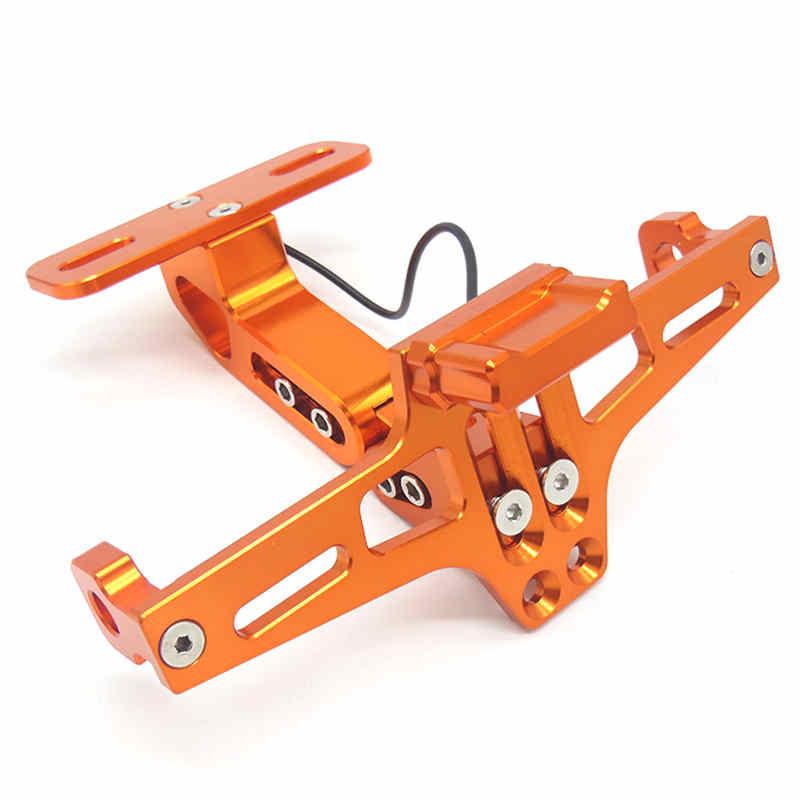 Мотоцикл светодиодный номерной знак для Moto Aprilia shiver 750 Patente Moto Bmw S1000Rr светодиодный Matricula Moto Pulsar 200 Ns Bmw R Nine - Цвет: Оранжевый