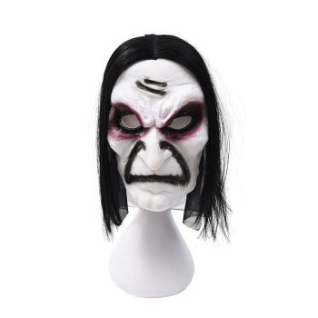 Halloween Zombie Mask Props Grudge Ghost Hedging Zombie Mask Realistic Masquerade Mask Long Hair Ghost Scary Mask image