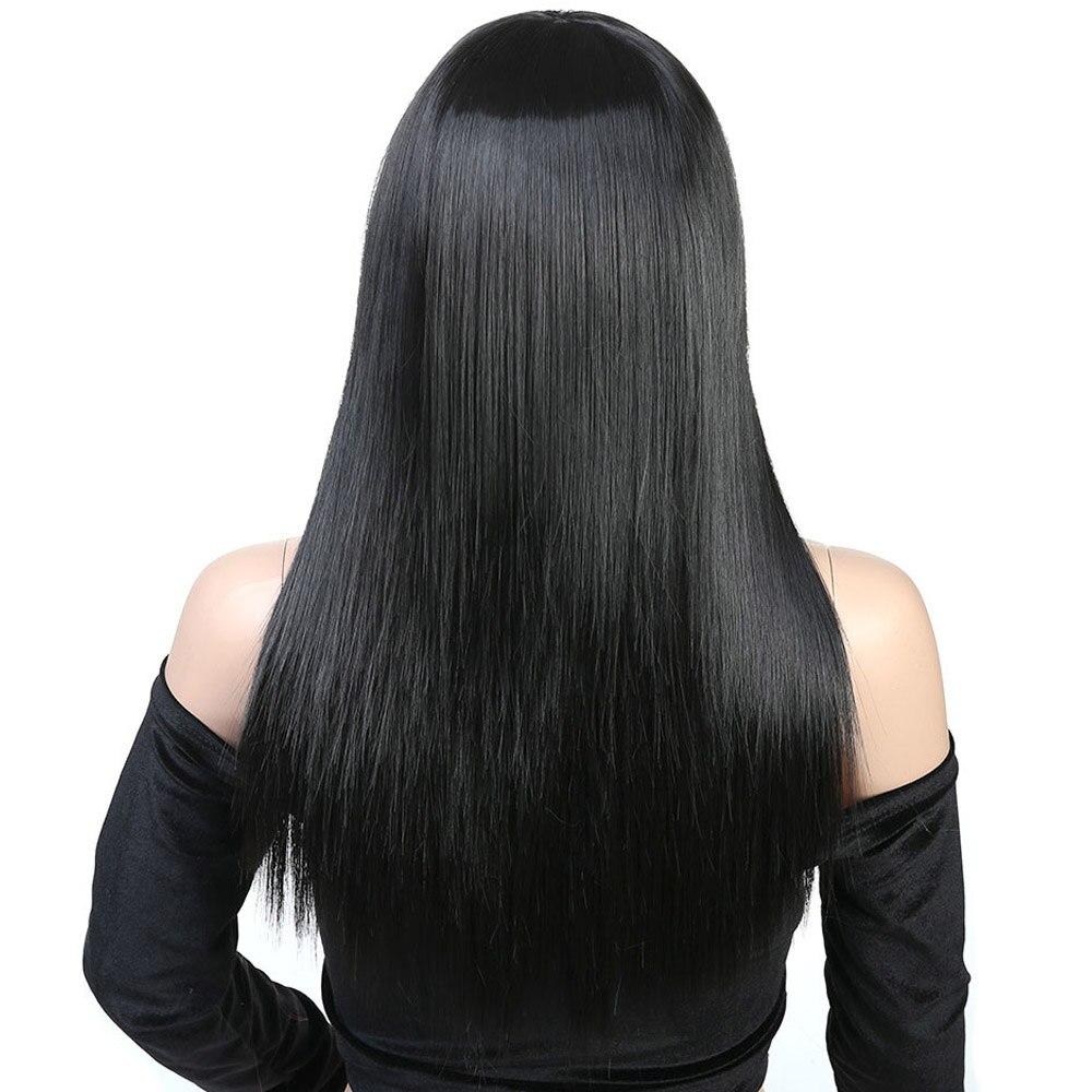 Liangmo perucas longas em linha reta peruca