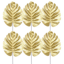 10 шт s/m/l золотые искусственные декоративные листья монстеры