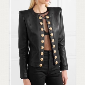 Image 1 - Heißer Gut Frau Mäntel Echtem Leder 2019 Mode Schaffell Leder Mantel Weiblichen Jacken Einreiher Echtes Leder