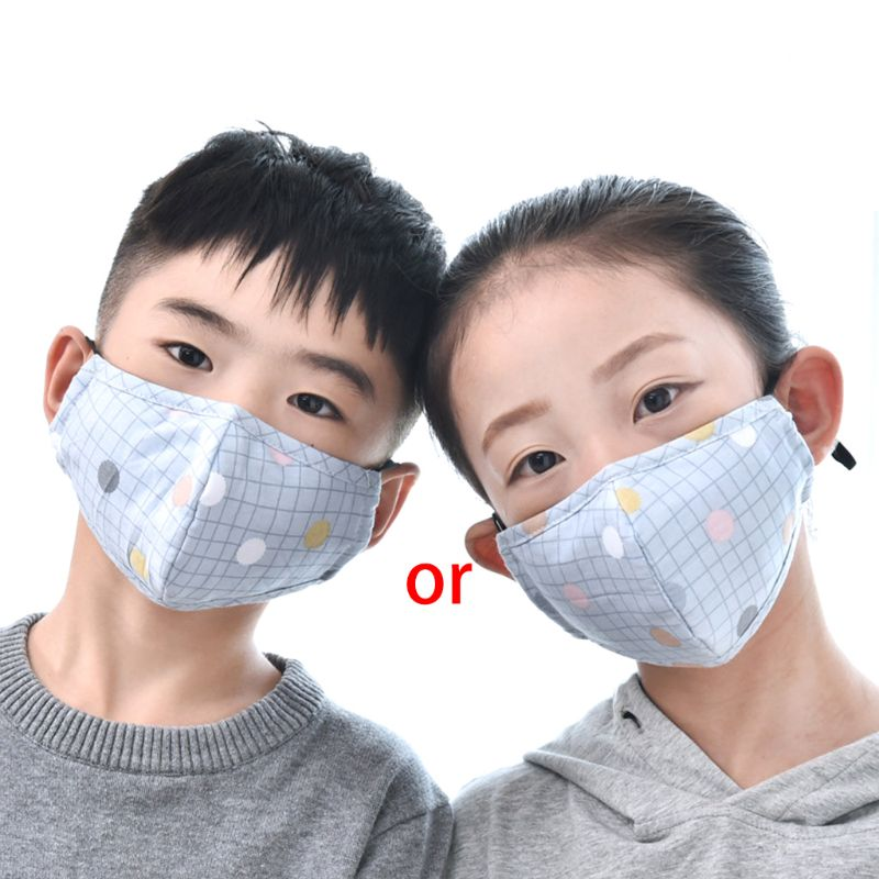 Cotton PM2.5 Children Mouth Face Mask Anti Dust Pollution Respirator Washable A69C
