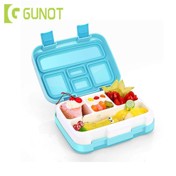 GUNOT Cartoon Lunch Box For Kids With Separate Compartments Leakproof Bento Box Microwavable Food Container BPA Free Lunchbox