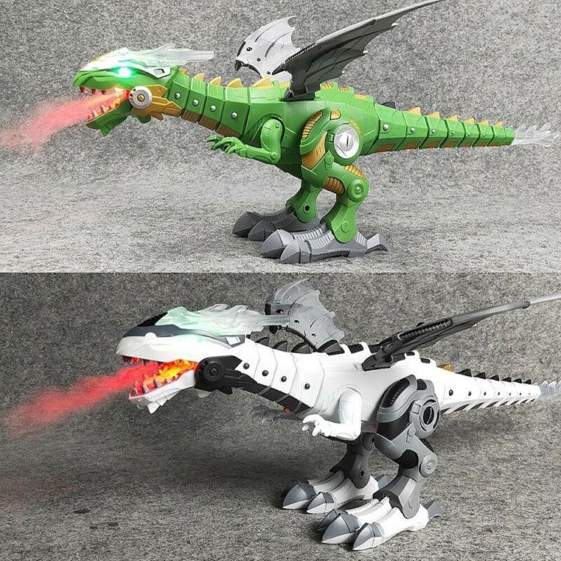 2020 Walking Dragon Toy Fire Breathing Water Spray Dinosaur Xmas Gift For Kids