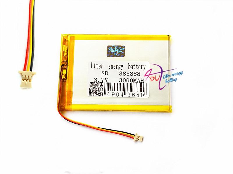 (3 нити) литровый аккумулятор 386888 3,7 в 3000 мАч Универсальный литий-ионный аккумулятор для планшетных ПК 7 дюймов 8 дюймов 9 дюймов