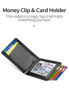 Image 3 - NewBring kart durumda siyah inek deri cüzdan para klip RFID blok sürücü lisans nakit OrganizerMen iş kredi kartı sahibi