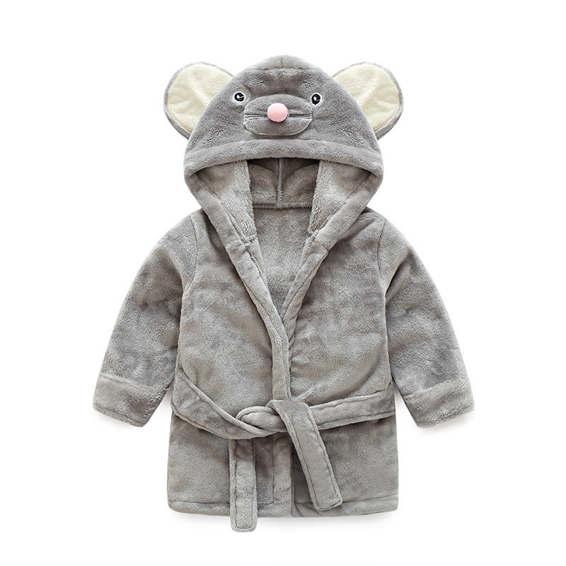 2019 New Style Flannel Bathrobe Cute Mouse Children Tracksuit Suit Children Animal Bathrobe A Generation Of Fat