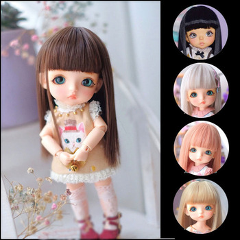 1/3 1/4 1/6 1/8 BJD sd  doll wig black high temperature fiber heat resistant wire long straight bangs doll hair doll accessories 1 3 1 4 1 6 bjd wig doll hair lon straight girl wig multicolour available high wire faux fur wig fb12