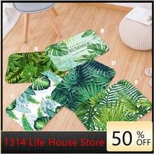 Ковры для ванной тропический растительный узор листья полиэстер