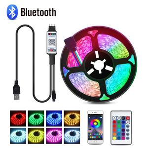 Novedades 2020 Flexible USB RGB Remote Control LED Light 1M-5M Waterproof Selfie TV Ring Decoration Novelties Night Lamp