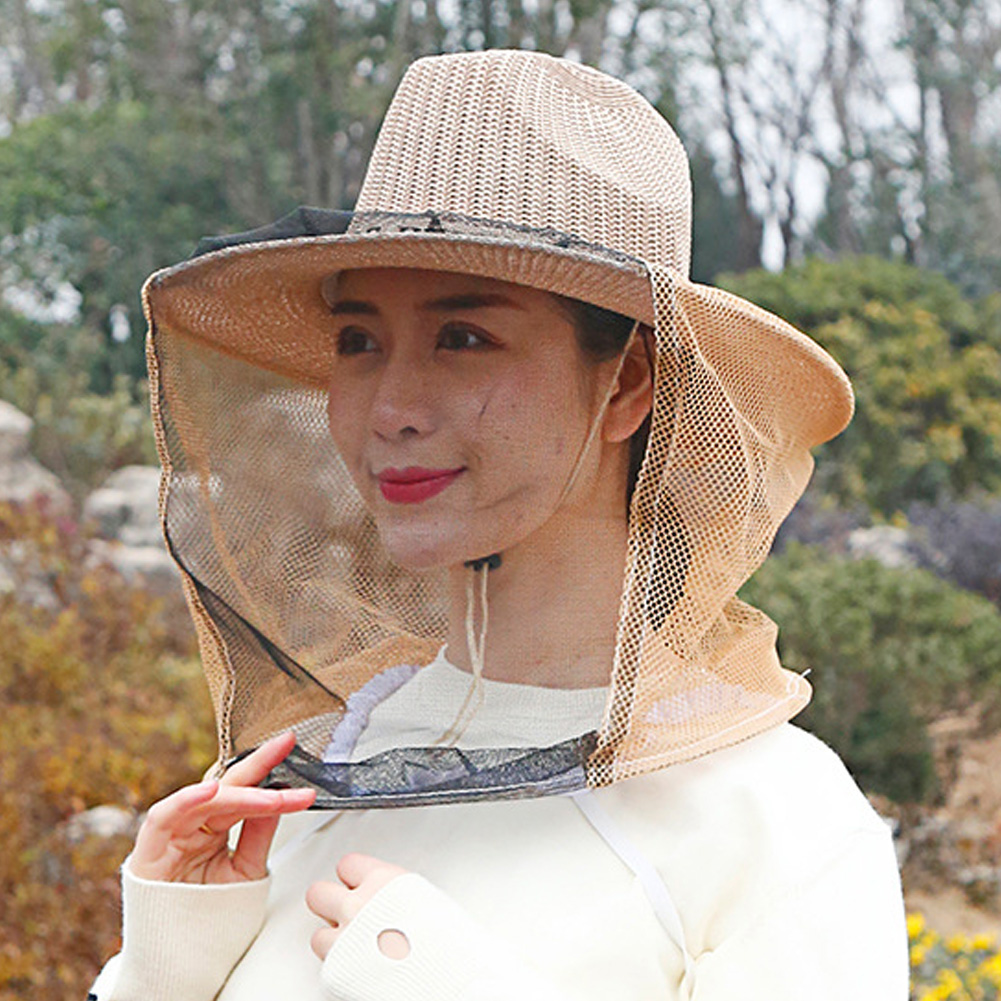 Thick Breathable Anti-bee Hat Sting Protection Hat Mesh Weave Bee Nets Catch Hats Anti-mosquito Bite Locust Cap Beekeeping Tool