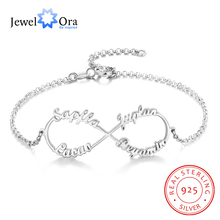 Personalized Infinity Name Bracelets for Women 4 Names Adjustable & Bangles Customized Sister Gift (JewelOra BA102551)