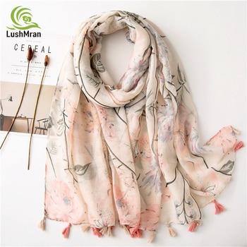 Women Cotton Scarves Tassels Summer Ladies Beach Wraps Thin Soft Female Fashion Long Shawls Autumn Muslim Hijab Spring