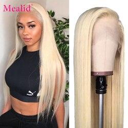 Remy Brasilianische Gerade Menschenhaar Perücken Glueless 613 Blonde Volle Ende Spitze Frontal Perücken 13x4 Pre Gezupft Mit baby Haar