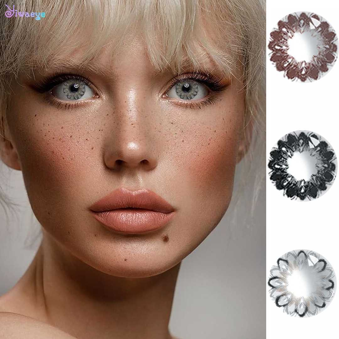 Optical Power Sweet Beautiful Pupil Eyes Contact Lenses Color Big Donut Series For Myopia Cute Flower Party Cartoon Girl Wear Aliexpress
