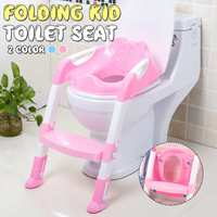 Portable Urinal Potty Training Seats Folding Baby Potty Infant Kids Toilet Training Seat with Adjustable Ladder for Children