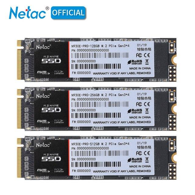 Netac N930E Pro M.2 2280 SSD NVMe PCIe Gen3 * 4 128GB 256GB 512 GB محرك أقراص الحالة الصلبة الداخلية 128 256 512 GB SSD قرص صلب