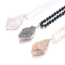 Модное богемное ювелирное ожерелье в этническом стиле с натуральными