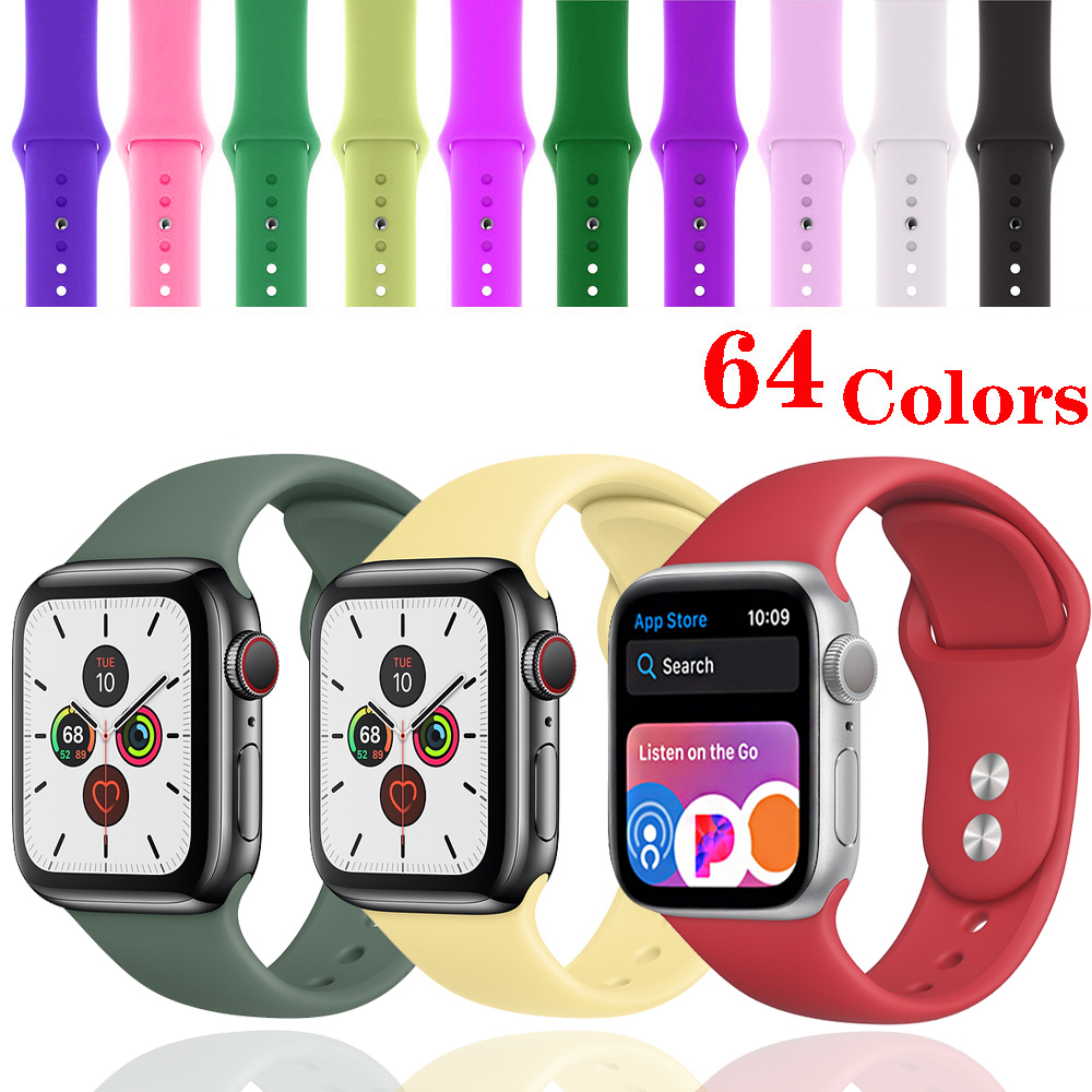 Strap For Apple Watch Band 44 Mm 40mm Correa Apple Watch 5 4 Iwatch Band 42mm 38 Mm Bracelet Silicone Watchband Accessories 3 2