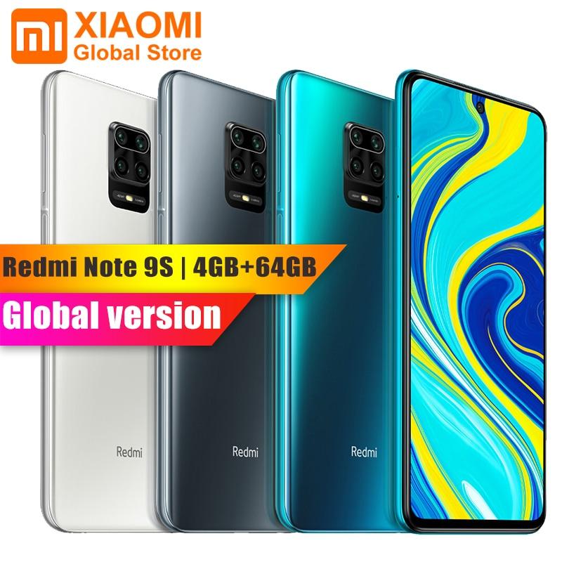 Xiaomi redmi nota 9 s 4gb 64gb versão global telefone móvel snapdragon 720g octa núcleo 5020mah 48mp cam nota 9 s smartphone 6.67