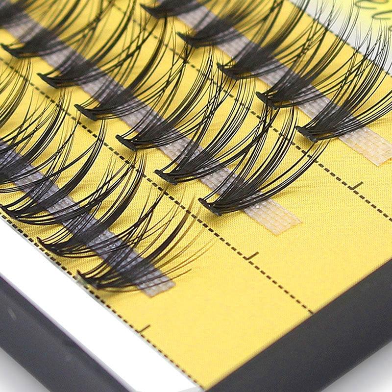 Kimcci 60 Bundles Mink Eyelash Extension Natural 3D Russian Volume Faux Eyelashes Individual 20D Cluster Lashes Makeup Cilios