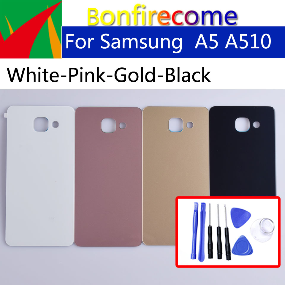 A510 For Samsung Galaxy A5 2016 A510 SM-A510F A510F SM-A510F/DS Back Battery Cover Case 3D Glass Rear Housing Cover(China)